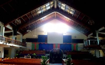 LX-F6 instalado en una iglesia del Caribe