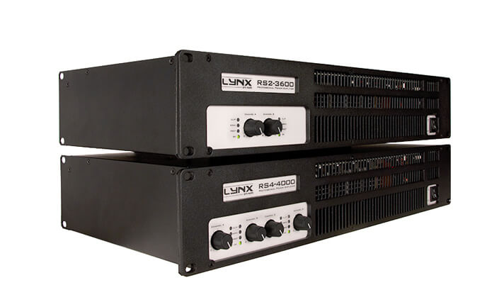 Lynx Pro Audio presents the new RS series Amplifiers