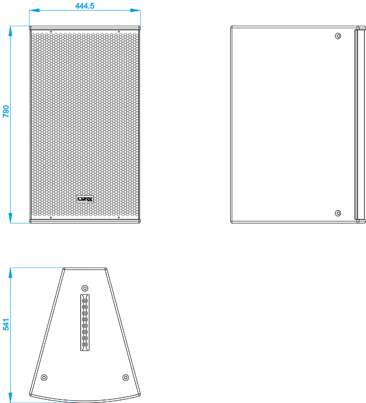 HR 1564/7 & HR 1596/7 dimensions