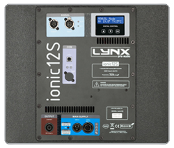 Rear panel Ionic-100 Lynx Pro Audio