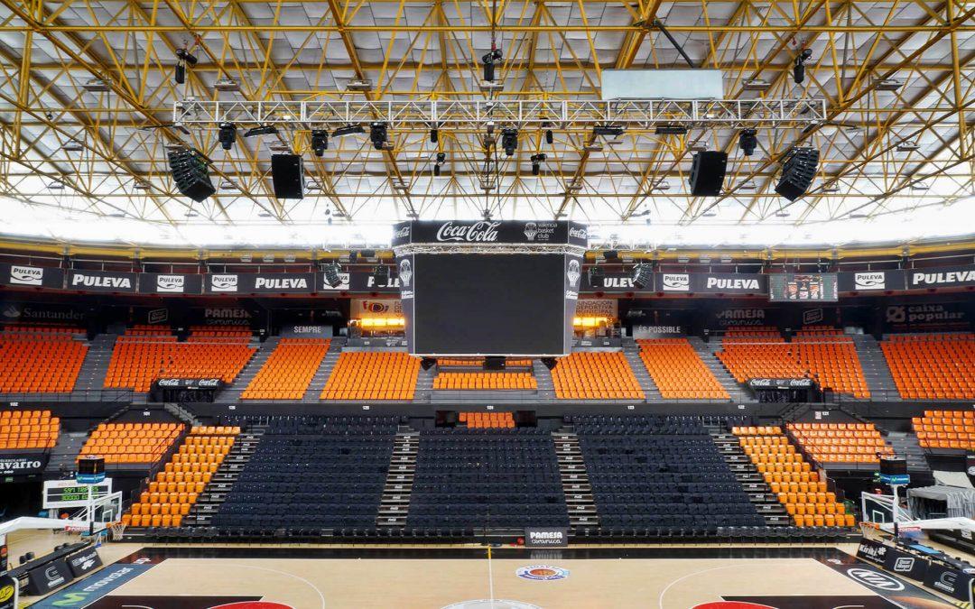 Valencia Basket arena | Lynx Pro Audio