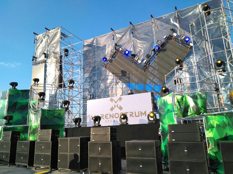 180.000 W of Lynx Pro Audio at Marenostrum Xperience Festival