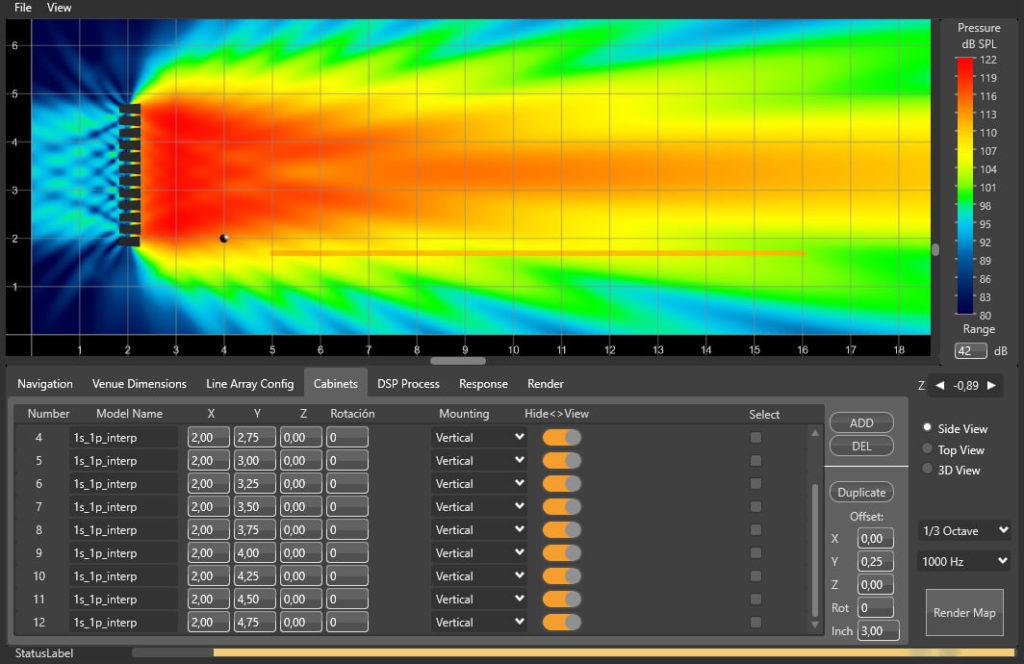 Rainbow 3D simulador fuentes sonoras
