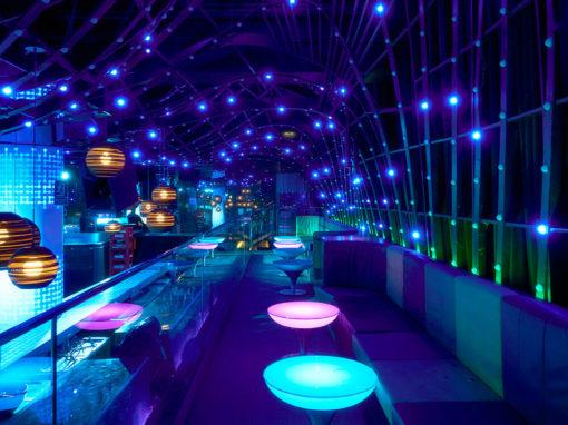 Installation at MYA, the most fancy nightclub in Valencia