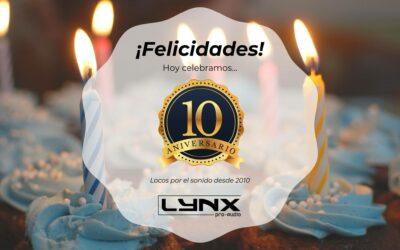 Décimo aniversario de Lynx Pro Audio